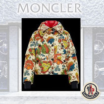MONCLER Flower Patterns Street Style Medium Down Jackets