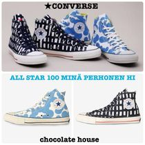 CONVERSE ALL STAR Other Check Patterns Flower Patterns Unisex Sneakers