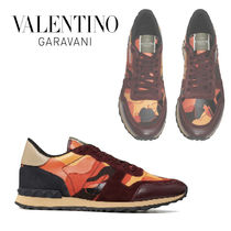 VALENTINO Camouflage Fur Studded Special Edition Sneakers