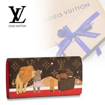 Louis Vuitton PORTEFEUILLE SARAH Monogram Other Animal Patterns Leather Special Edition
