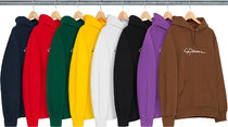 Supreme Pullovers Unisex Street Style Long Sleeves Cotton Hoodies
