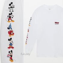 VANS Crew Neck Street Style Collaboration Long Sleeves Cotton