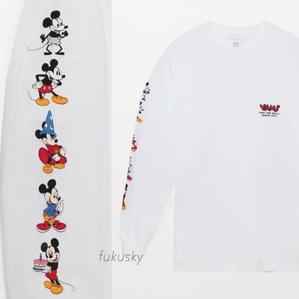 VANS Long Sleeve Crew Neck Street Style Collaboration Long Sleeves Cotton