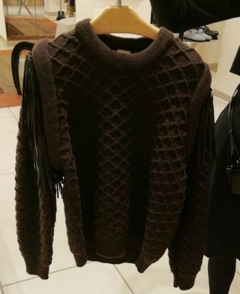 Crew Neck Cable Knit Casual Style Wool Blended Fabrics