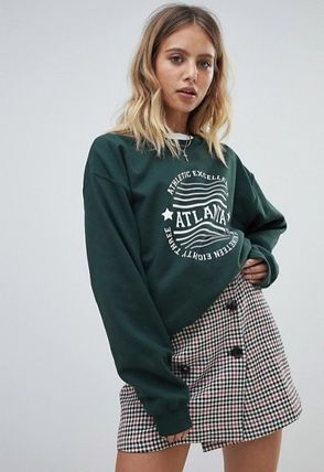 Crew Neck Sweat Street Style Long Sleeves