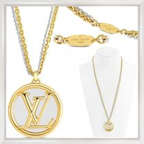 Louis Vuitton Costume Jewelry Unisex Street Style Chain Brass