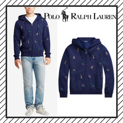 POLO RALPH LAUREN Hoodies Street Style Long Sleeves Cotton Logos on the Sleeves