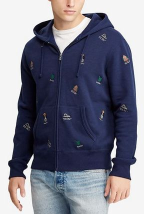 POLO RALPH LAUREN Hoodies Street Style Long Sleeves Cotton Logos on the Sleeves 2