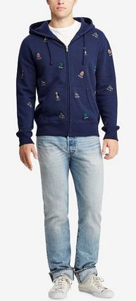 POLO RALPH LAUREN Hoodies Street Style Long Sleeves Cotton Logos on the Sleeves 4