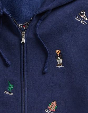 POLO RALPH LAUREN Hoodies Street Style Long Sleeves Cotton Logos on the Sleeves 7