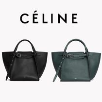 CELINE Big Bag Calfskin Plain Elegant Style Handbags