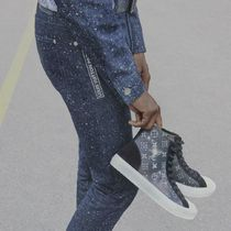 Louis Vuitton Star Blended Fabrics Street Style Bi-color Sneakers