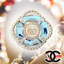 CHANEL Costume Jewelry Blended Fabrics Elegant Style Party Jewelry