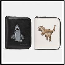 Coach Other Animal Patterns Leather Folding Wallets