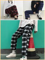 Printed Pants Gingham Glen Patterns Unisex Street Style