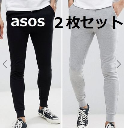 Unisex Sweat Street Style Plain Joggers & Sweatpants