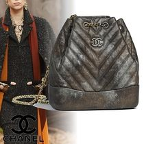 CHANEL Chain Plain Leather Purses Elegant Style Backpacks