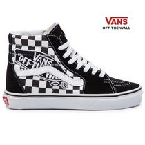 VANS SK8-HI Other Check Patterns Street Style Leather Sneakers