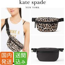 kate spade new york Leopard Patterns Casual Style Unisex Nylon Street Style