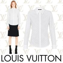 Louis Vuitton MONOGRAM Short Monogram Long Sleeves Cotton Cropped
