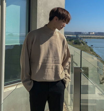 ASCLO Knits & Sweaters Street Style Collaboration Long Sleeves Plain 3