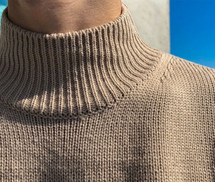 ASCLO Knits & Sweaters Street Style Collaboration Long Sleeves Plain 6