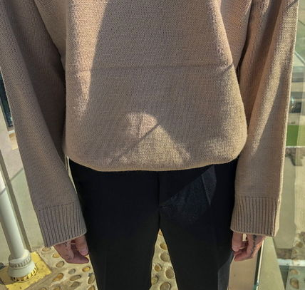 ASCLO Knits & Sweaters Street Style Collaboration Long Sleeves Plain 7