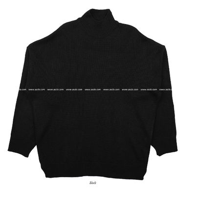 ASCLO Knits & Sweaters Street Style Collaboration Long Sleeves Plain 12