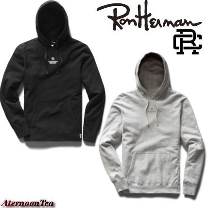 Ron Herman Hoodies Pullovers Street Style Long Sleeves Plain Cotton Handmade