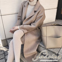 Plain Long Midi Oversized Elegant Style Wrap Coats