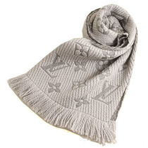 Louis Vuitton Monogram Unisex Wool Fringes Heavy Scarves & Shawls
