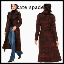 kate spade new york Other Check Patterns Tweed Long Elegant Style Coats