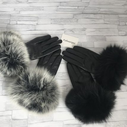 Leather & Faux Leather Blended Fabrics Plain Leather Leather & Faux Leather Gloves 2