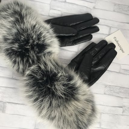 Leather & Faux Leather Blended Fabrics Plain Leather Leather & Faux Leather Gloves 3