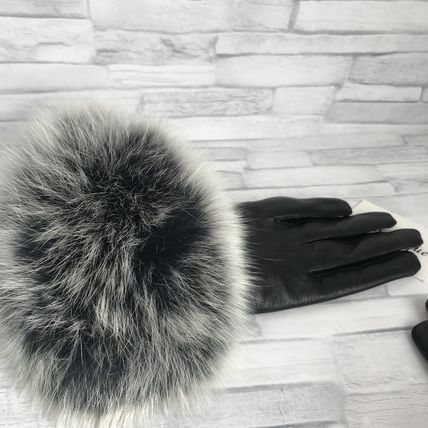Leather & Faux Leather Blended Fabrics Plain Leather Leather & Faux Leather Gloves 4