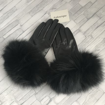 Leather & Faux Leather Blended Fabrics Plain Leather Leather & Faux Leather Gloves 6