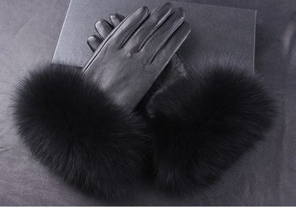 Leather & Faux Leather Blended Fabrics Plain Leather Leather & Faux Leather Gloves 8