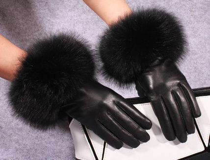 Leather & Faux Leather Blended Fabrics Plain Leather Leather & Faux Leather Gloves 10