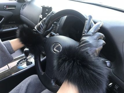 Leather & Faux Leather Blended Fabrics Plain Leather Leather & Faux Leather Gloves 11