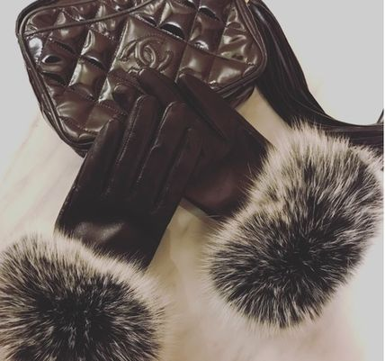 Leather & Faux Leather Blended Fabrics Plain Leather Leather & Faux Leather Gloves 13
