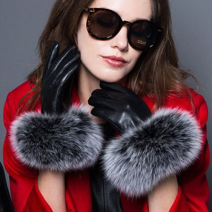 Leather & Faux Leather Blended Fabrics Plain Leather Leather & Faux Leather Gloves 14