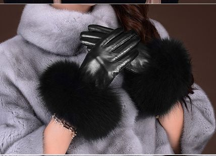 Leather & Faux Leather Blended Fabrics Plain Leather Leather & Faux Leather Gloves 16