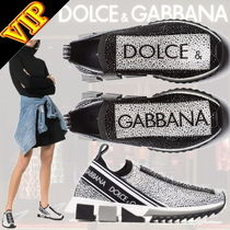 Dolce & Gabbana Round Toe Bi-color Elegant Style Low-Top Sneakers