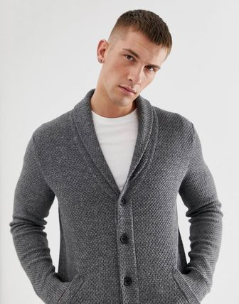 Hollister Co. Cardigans Street Style Long Sleeves Plain Cotton Cardigans 3