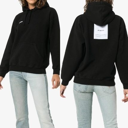 Unisex Street Style Plain Cotton Oversized