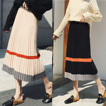 Casual Style Medium Midi Skirts