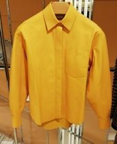TOD'S Casual Style Long Sleeves Plain Leather Medium