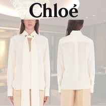 Chloe Silk Long Sleeves Shirts & Blouses
