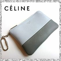 CELINE Bi-color Leather Coin Purses