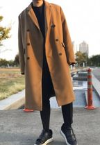 Wool Plain Chester Coats
